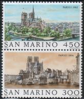 "San Marino - 1982 ""Philexfrance - Vedute Di Parigi"" S. Cpl 2v Uniti MNH** - Nuevos"