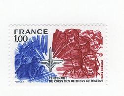 Officiers De Réserve YT 1890 + B : Normal + GOMME MATE . Voir Le Scan . Cotes YT : 30.70 € , Maury N° 1890 + A : 45.50 € - Varietà: 1970-79 Nuovi