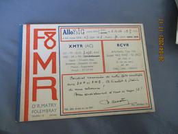 Carte Qsl 1936  Folembray  R Matry F8 Mr - Amateurfunk