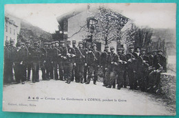A + G  -  Corrèze  -  La Gendarmerie à CORNIL Pendant La Grève - Guinot, éditeur, Brive - Sonstige Gemeinden