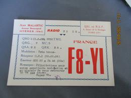 Carte Qsl 1937  Hyeres Jean Malartic F 8 Y I - Amateurfunk