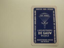 """Speelkaart ( 0528 ) Dos D' Une Carte à Jouer - Wijn Vin Likeur Liqueur  Distillerie Stokerij  -  Wilsele  """" De Gauw """" - Barajas De Naipe"""