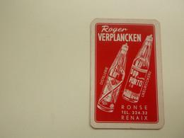 Speelkaart ( 0530 ) Dos D' Une Carte à Jouer - Wijn Vin Likeur Liqueur  Distillerie Stokerij  -  Renaix  Ronse - Barajas De Naipe