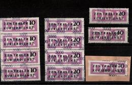 ! DDR Kleines Lot 11 Briefmarken Neubrandenburg, ZKD, Zentraler Kurierdienst, 3000 - Official