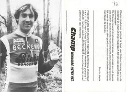 CARTE CYCLISME MARTIN HAVIK TEAM BECKER 1983 - Cycling