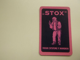 Speelkaart ( 0544 ) Dos D' Une Carte à Jouer - Wijn Vin Likeur Liqueur  Distillerie Stokerij  -   STOX - Barajas De Naipe