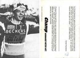 CARTE CYCLISME EMIEL KERSTENS TEAM BECKER 1983 - Cycling