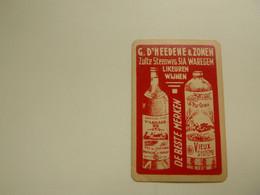 Speelkaart ( 0548 ) Dos D' Une Carte à Jouer - Wijn Vin Likeur Liqueur  Distillerie Stokerij  -   Waregem - Barajas De Naipe