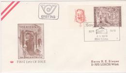 Ö 1976 - Mi: 1508 (1) , FDC - 200 Jahre Burgtheater , Wien , SST 1150 Wien - 1971-80 Covers