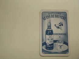 Speelkaart ( 0557 ) Dos D' Une Carte à Jouer - Wijn Vin Likeur Liqueur  Distillerie Stokerij  -   Leukenheide - Barajas De Naipe