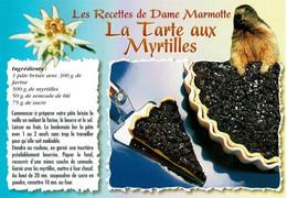 Les Recettes De Dame Marmotte : La Tarte Aux Myrtilles - éditions Seca - Neuve - Recipes (cooking)