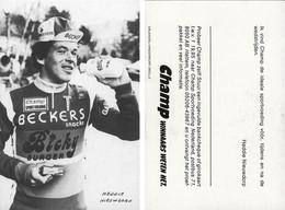 CARTE CYCLISME HEDDIE NIEUWDORP TEAM BECKER 1983 - Cycling