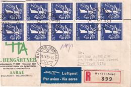 SUISSE 1939 PLI AERIEN RECOMMANDE DE BUCHS AVEC CACHET ARRIVEE NEW YORK - Storia Postale