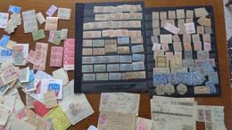 France. Des Centaines De Timbres Fiscaux Détachés Ou Sur Fragments, Quelques Neufs - Fiscale Zegels