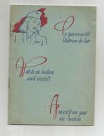 """Sabena Brochure De 1953 Consignes De Sécurité """"ce Que Vous Dit L'hôtesse De L'air"""" """"Wat De Air-hostess Zoal Vertelt"""" - Safety Cards"""