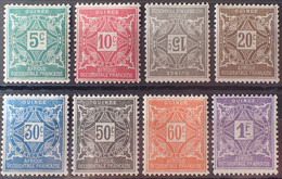 R2452/1104 - 1914 - COLONIES FR. - GUINEE - TIMBRES TAXE - SERIE COMPLETE - N°16 à 23 NEUFS* - Unused Stamps