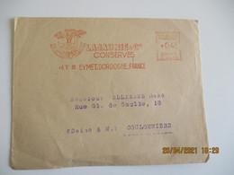 Ema 1955 Eymet Lajaunie Conserve Oie Je Me Truffe Moi Meme Empreinte Machine Affranchir - Freistempel