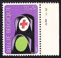 [161181]TB//**/Mnh-Belgique 1974 - N° 1706-pl3,  Croix-Rouge, Sécurité Routière, N° De Planche, SNC - 1971-1980