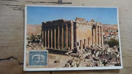 LIBAN RRR Carte Maximum BAALBECK Temple De Bacchus 1938 ............. PHI-G705 - Liban