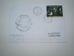 Saint Paul Et Amsterdam 21-3-2021 Timbre Albatros à Bec Jaune Issu Du Carnet  Cachet Agent RN Flore - Covers & Documents