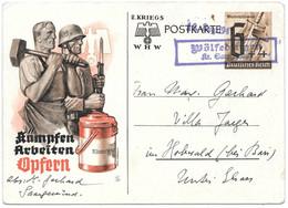 Moselle (Woelfling Les Sarreguemines) EP 6+4pf Obl. Griffe WOLFLINGEN Kr Saarguemund - 1941 - Brieven En Documenten