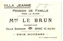 VILLA JEANNE . PENSION DE FAMILLE . BINIC . 22 - Publicidad