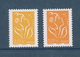 Lamouche 0.01 € Philaposte YT 3731A : Type I + Type I Variété Orange Foncé De 2008 . Superbes , Voir Les Scans . - Variedades: 2000-09 Nuevos