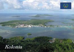 1 AK Mikronesien Island Pohnpei * Blick Auf Die Insel Dekehtik Mit Dem Internationalen Flughafen Im Vordergrund Kolonia - Micronesia