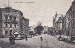SAARBRÜCKEN - SAAR - DEUTSCHLAND - BELEBTE ANSICHTKARTE 1916. - Saarbruecken