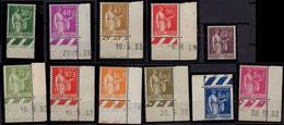 FRANCE 280 à 289 ** MNH Type Paix 1932-1933 Série Complète + 8 Coin Daté (CV > 330 €) - Unused Stamps