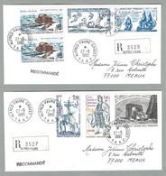 1980 TAAF / FSAT LOT 2 PLIS RECOMMANDÉS BASE ALFRED FAURE - CROZET - Covers & Documents