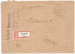 Moselle (Bouzonville) LR En Franchise Obl. BUSENDROF A - 1940 - Brieven En Documenten