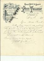 03- Allier - Gannat - Facture Petit - Taillardat - Grand Hotel Du Louvre - Route De Vichy - 1899 - Réf - 57 - - 1800 – 1899