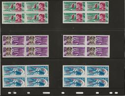 RUSSIE - SERIE COSMOS N° 2681 A 2683 - BLOC DE 4 NEUF SANS CHARNIERE DENTELE ET NON DENTELE -ANNEE 1963 - Unused Stamps