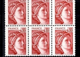 France Sabine YT N° 1965b Variété Sans Phosphore En Bloc De 6 Neufs ** MNH. Signés Calves. TB. A Saisir! - Varieties: 1980-89 Mint/hinged