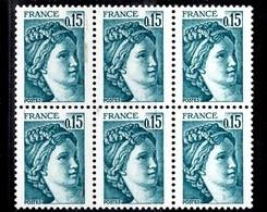 France Sabine YT N° 1966b Variété Sans Phosphore En Bloc De 6 Neufs ** MNH. Signés Calves. TB. A Saisir! - Varieties: 1980-89 Mint/hinged