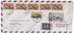 NOUVELLE CALEDONIE - 1955 - ENVELOPPE GF Par AVION De NOUMEA => PARIS - Covers & Documents