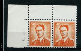 Paire Datée Du 01 VI 72 Du N° 1074P3 (**) - 1953-1972 Anteojos