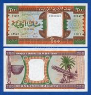 Mauritania 200 Ouguiya 1996 Pick # 5g Unc - Mauritania