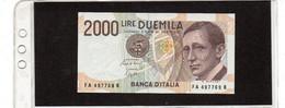 REPUBBLICA ITALIANA  2000 LIRE  MARCONI SPL - 2000 Lire