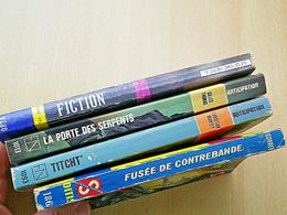 BD - 1 FICTION N°383 02/1987 + 1 SCIENCES FICTIONS N°186 1960 + 2 ANTICIPATIONS - Bücherpakete