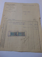 T641 / Facture SCIERIE DU CHATEAU - LAIGLE Orne - Directeur M. Saulnier - Invoices