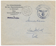 Moselle ( Metz Rue Lafayette) L Franchise  Obl. METZ 3 O  -  1941 - Brieven En Documenten