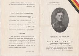 ABL, Meyer Né Thisnes 1895 Au Champ D'honneur Dixmude 1918 - Todesanzeige