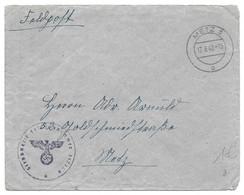 Moselle (Metz Rue Lafayette) L Franchise Feldpost Obl. METZ 3 O - 1942 - Brieven En Documenten