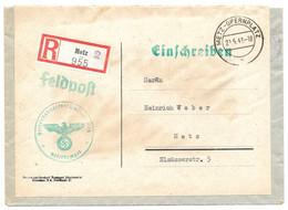 Moselle (Metz Comédie) LR Franchise Obl. METZ-OPERNPLATZb A  -  1942 - Brieven En Documenten