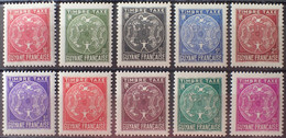 R2452/1116 - 1947 - COLONIES FR. - GUYANE - TIMBRES TAXE - SERIE COMPLETE - N°22 à 31 NEUFS* - Ungebraucht