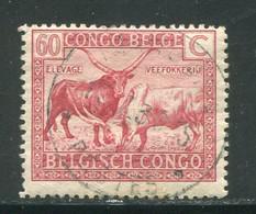 CONGO BELGE- Y&T N°124- Oblitéré - 1923-44: Usados