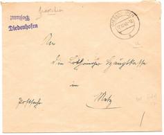 Moselle (Thionville) L Franchise  Obl. DIEDENHOFEN A  -  1940 - Brieven En Documenten