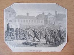 Petite Gravure Représentant La Prise Des Tuileries - Historical Documents